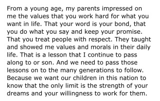 Excerpt from Melania Trump's 2016 speech